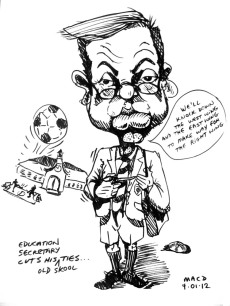 caricature of micheal gove by macd