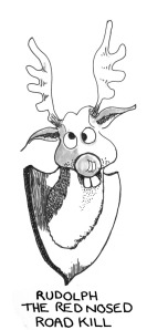 rudolph the red nosed reindeer - a satirical cartoon by MacD of politoons