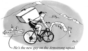 a sport themed cartoon about professional cycling using the indian ink cartoon style