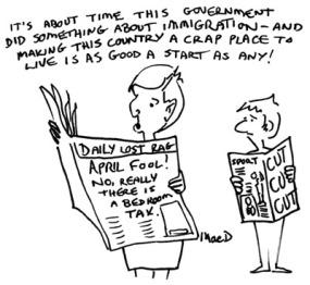 MacD cartoon in indian ink style, ebook coming soon in 2013